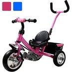Dreirad aus Metall mit abnehmbarer Schubstange Sicherheitsgurt Kinderdreirad Schiebestange Free Angel® Pink
