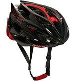 AWE® AWESpeedTM In-Mould Helm Erwachsene Männer Straßen-Radsport 56-58cm Schwarz-rot-Carbon