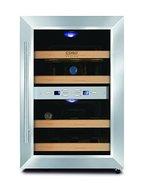 CASO WineDuett 12 Design Weinkühlschrank für bis zu 12 Flaschen (bis zu 310 mm Höhe), zwei Temperaturzonen 7-18°C