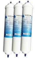 UN-3. Wasserfilter für Samsung, LG, Side by Side Kühlschrank Filter extern. Kühlschrankfilter mit integriertem Schlauchanschluss. 3-er Pack.