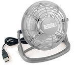 mumbi USB Ventilator - Mini Fan für den Schreibtisch mit An/Aus-Schalter, grau
