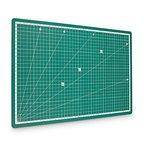 PRETEX Schneidematte 45 x 30 cm (A3) aus recyceltem PVC in grün mit selbstschließender, selbstheilender Oberfläche   2 Jahre Zufriedenheitsgarantie   Schneideunterlage, Cutting Mat
