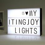 ITingjoy freien kombination filmische licht kiste mit briefen und led - licht - a4 - größe