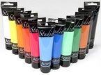 MAGI Studio-Acryl Farbset 12 x 100 ml Tube, insgesamt 1.200 ml Künstlerfarbe