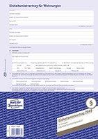 Avery Zweckform 2849 Mietvertrag (für Wohnungen, A4, 4-seitig, Bogenformat) 5 Stück, blau