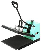 RICOO Transferpresse T138-TB [38x38cm] T-Shirtpresse Heat Press Thermopresse Textilpresse für Transfer-Folie Transfer-Papier || Türkisblau ||