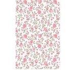 Klebefolie - Möbelfolie Rosa Blümchen - Biedermeier Look - 45 cm x 200 cm - Selbstklebende Folie mit kleinen Streublümchen Blumenranken - Dekorfolie