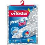 Vileda Premium 2 in 1 140511 Bügeltischbezug, Silber-Grau