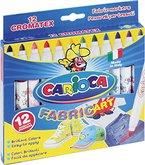 CARIOCA 40957 - Cromatex Stoff-Malstifte, Textilmalstifte, 12-tlg. Set
