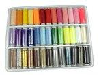 LIHAO 39x Nähgarn Polyester Multi Farben Set 200 Yard Sewing Thread Nähset