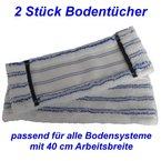 Carat Bodentuch - passend für alle handelsüblichen 40cm Bodenwischsysteme - DOPPELPACK