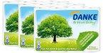 DANKE Haushaltstücher Rollen, Küchenrollen 3lagig aus 100% Recycling Papier, 3 x 4 Rollen (12 x 45 Blatt)
