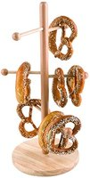 APS Brezelständer ca. Durchmesser 22cm, Höhe 50 cm Buchenholz, lackiert vielseitig einsetzbar, für die Präsentation von Brezeln und Würsten