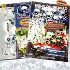 """Schneidmeister Airbrush Schablone FIELD OF SKULLS Vol. 01 (""""THE HATEFUL 12""""), Größe ca. A4, Single-/QuickStep EZ SkullMaker ArtShield®"""