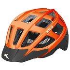 KED Fahrradhelm Kailu, Größe S/M, Kopfumfang 49-53 cm, Orange Schwarz Matt, Maximaler Schutz für die jüngsten Biker - Made in Germany