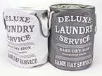 Bada Bing Wäschesack hellgrau Deluxe Laundry Style Vintage Look 37487