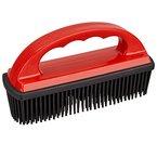 TECAROO Enthaarungsbürste für Fahrzeugpolster und textile Oberflächen mit Spezialborsten aus Gummi und Statik-Effekt inklusive 2 Jahren Zufriedenheitsgarantie - Spezialbürste zum Entfernen von Tierhaaren / Tierhaar-Bürste / Pet Hair Removal Brush