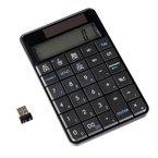 ultron UN-1 Schnurloser 2,4 GHz Keypad Nummernblock integrierter Taschenrechner und Solarpanel