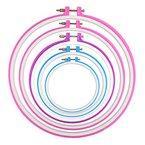 WINOMO 12.7 cm/16.5 cm/20 cm / 24cm/27.2 cm Stickrahmen Tambour Stickerei Kreis Cross Stitch Hoop Ring - 5 Stuecke