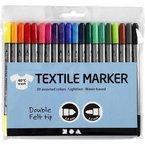 20 St. Textilmarker Stoffmalstifte Textil-Marker T-Shirt-Marker m. Doppelspitze