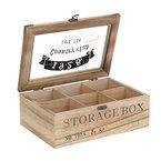 ToCi Teebox aus Holz im Landhausstil mit 6 oder 9 Fächern, Modell:Modell 1