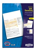 Laserware L0107 SEPA-Überweisung A4, 100 Blatt, beleglesefähig