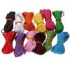 WINOMO 12 Farben 10M gewachste Baumwolle Schnüre Zeichenfolgen Seile (zufällige Farbe)
