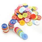 Generic zufällige Farbe 100PCS DIY Shirt Knöpfe Craft Kinder DIY Toys, Kunststoff, Random Color, 9mm