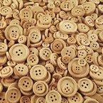 100 Gramm (ca. 200 Stück) rustikale, naturbelassene Holzknöpfe - Größe: ca. 12 bis 20 mm rund - Knöpfe zum Basteln und Scrapbooking