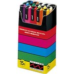 uniball Pigmentmarker POSCA PC3M, 15er Etui, farbig sort