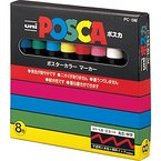 UNI-BALL PC5M8C000 Pack 8 Marker Posca Sortiment