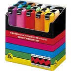 uniball Pigmentmarker POSCA PC8K, 15er Etui, farbig sort