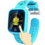 TURNMEON 1.44 zoll Smart Watch Kids GPS-Tracker mit IP65 Wasserdicht SIM Anrufe Antiverlust SOS Kinder Smart Armband Finder Sicherheit Monitor mit Eltern Kontrolle App für Universal Smartphone(blau)
