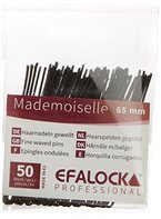 Efalock Mademoiselle Haarnadel, 65 mm, schwarz, 1er Pack (1 x 50 Stück)
