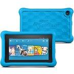 Fire Kids Edition-Tablet, 17,8 cm (7 Zoll) Display, WLAN, 16 GB, Blau Kindgerechte Schutzhülle