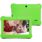 Alldaymall A88SK 7 Zoll Kinder Tablet PC Quad Core, Android 4.4 KitKat, 1GB RAM, 8GB NAND Flash mit Doppel Kamera und Wifi, Tablet für Kids mit Spezialangebot, Grün