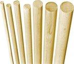 10x GedoTec® Buchen-Rundstab Bastelstäbe glatt aus BUCHE | Rundstäbe Ø 6 x 1000 mm | stabiler & hochwertiger Holzstab aus Buchenholz | Markenqualität für Ihren Wohnbereich