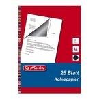 Herlitz 10303725 Kohlepapier für Schreibmaschinendurchschläge, A4, 25 Blatt schwarz