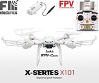 fm-electrics MJX X101w - Quadrocopter mit Wifi FPV, Riesen Reichweite, Headless Mode und One-Key Return, Sonderedition, Looping Funktion, C4010 Wlan Kamera in HD, XXL