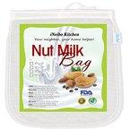 """iNeibo Kitchen Nussmilchbeutel für vegana / Passiertuch waschbar / Durchseih Beutel/ Mandelmilch tuch zum auspressen von Obst, Gemüse, yogourt, marmelade, kaffee und vielmehr(1stück/10""""x12"""")"""