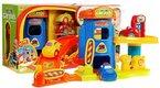 Parkgarage 16643 - Parkplatz - Garage Spielset - Parkgarage - Parkhaus - Parkplatz Spielzeug - Parkhaus Spielset - 3 Spielzeugautos und Aufzug