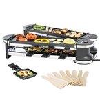 Ultratec Raclette RG1200, Duo 4 Gelenkgrill, Raclette-Grill für bis zu 8 Personen, 1200 W