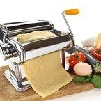 Jago Nudelmaschine Pastamaschine Pastamaker mit 6 verschiedenen Walzeinstellungen aus Edelstahl