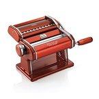 Marcato 08 0163 14 00 Original italienische Nudelmaschine Atlas 150 Wellness, rot