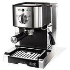 BEEM Germany Espresso Perfect Ultimate 20 bar, Espresso-Siebträgermaschine mit italienischer 20 bar Profi-Pumpe und integriertem Milchaufschäumer, Chrom