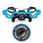 Hasakee Mini RC Quadcopter Drohne mit 3D-Flip,kamera,kopflos - modus,2.4 GHz 6-Achsen-Gyro am besten für Anfänger,Blaue Biene
