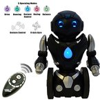 Ferngesteuerter Balance Spielzeug-Roboter für Kinder - Intelligenter, interaktiver RC-Roboter von ThinkGizmos (geschützte Marke) (Black & Silver)