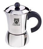GRÄWE Espressokocher aus Edelstahl, 6 kl. Tassen (ca. 300 ml), für Induktion geeignet