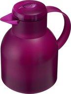 Emsa 507075 Isolierkanne, 1 Liter, Quick Press Verschluss, 100% dicht, Transluzent Himbeer, Samba