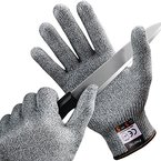 [Schnittschutzhandschuhe] FREETOO Hochleistung Schnittschutz Handschuhe Leicht 5 Handschutz Ebene, lebensmittelecht schnittfeste Handschuhe L
